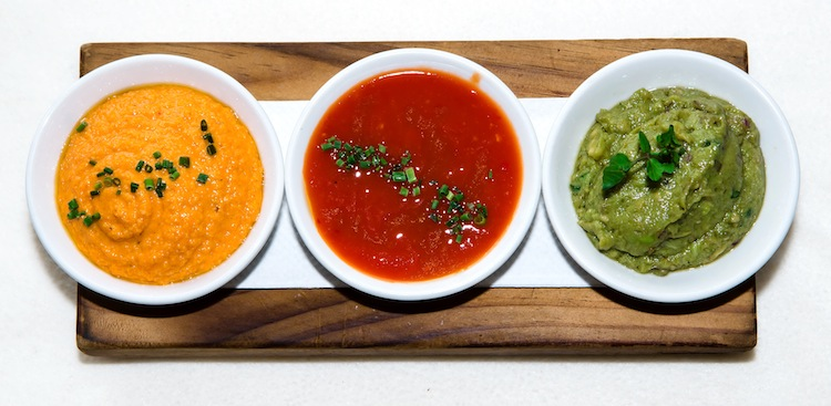 Romesco-Salsa De Tomate-Guacamole